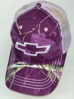 Фиолетовая камуфляжная бейсболка со светлой сеткой