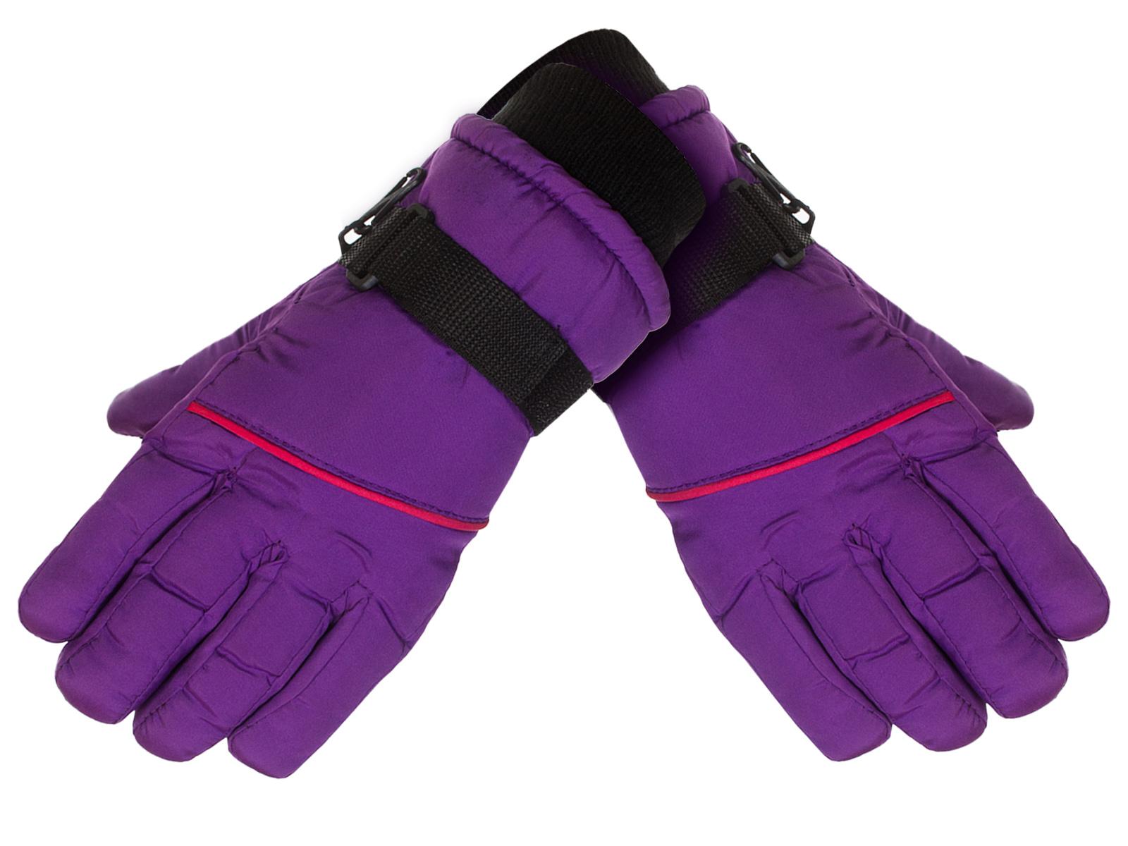 Купить фиолетовые детские перчатки Polar