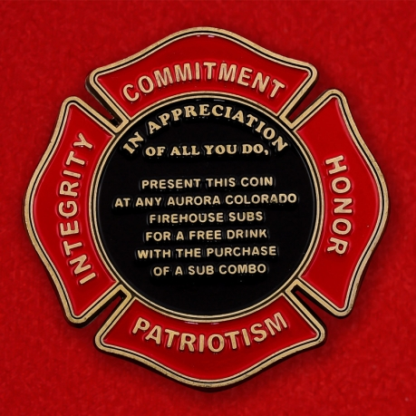 Firehouse Subs Of Colorado For A Free Drink Promotional Challenge Coin