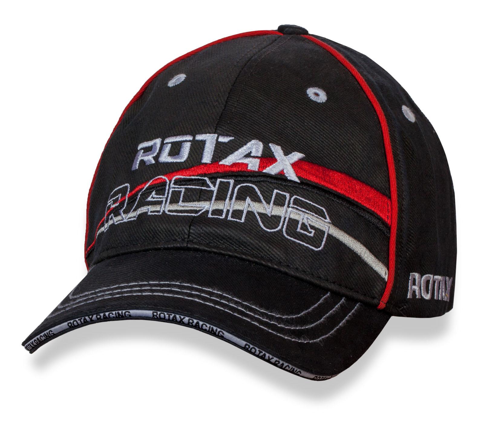 Фирменная черная бейсболка Rotax