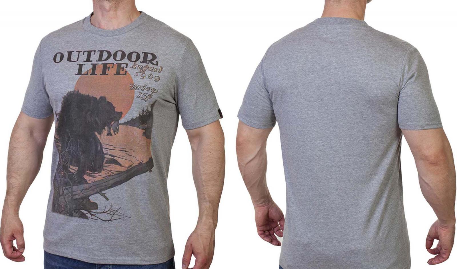 Мужская фирменная футболка Guide Life.