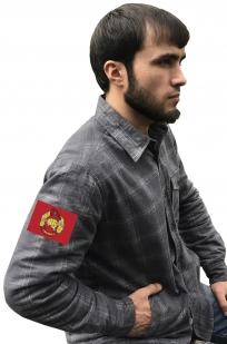 Фирменная клетчатая рубашка с вышитым шевроном Спецназ ВВ РФ - купить в Военпро