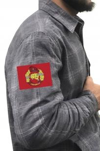 Фирменная клетчатая рубашка с вышитым шевроном Спецназ ВВ РФ - купить в подарок