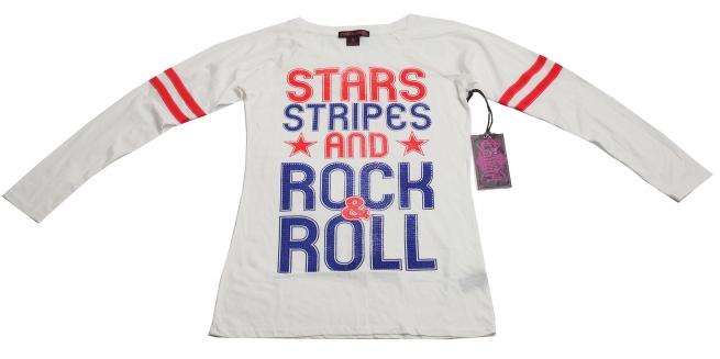Фирменная кофточка Rock&Roll CowGirl белого цвета с яркими надписями