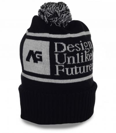 Фирменная мужская шапка ɅG. Актуальная модель для любых активностей в холодное время года