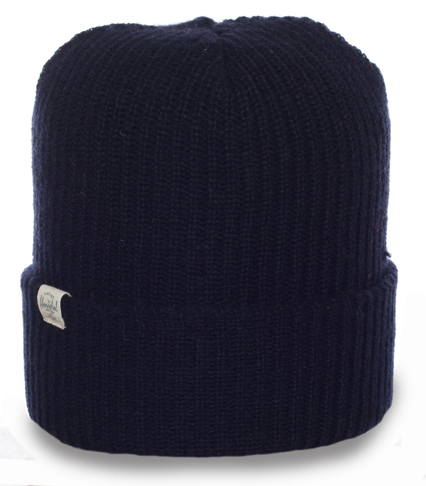 Фирменная мужская шапка Herschel. Практичная модель для парней, ценящих комфорт и качество