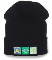 Фирменная мужская шапка National Alamo. Универсальная вязаная модель