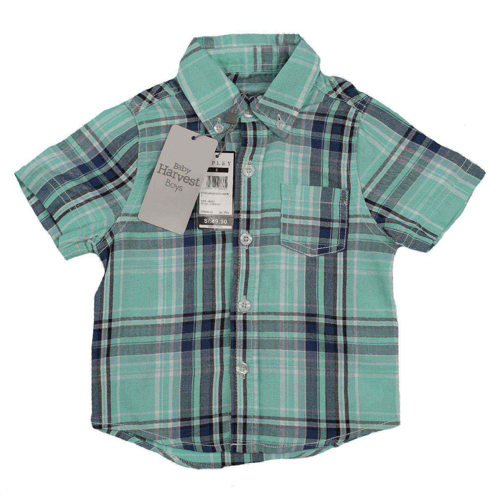 Фирменная рубашка от австралийского бренда Baby Harvest-вид спереди
