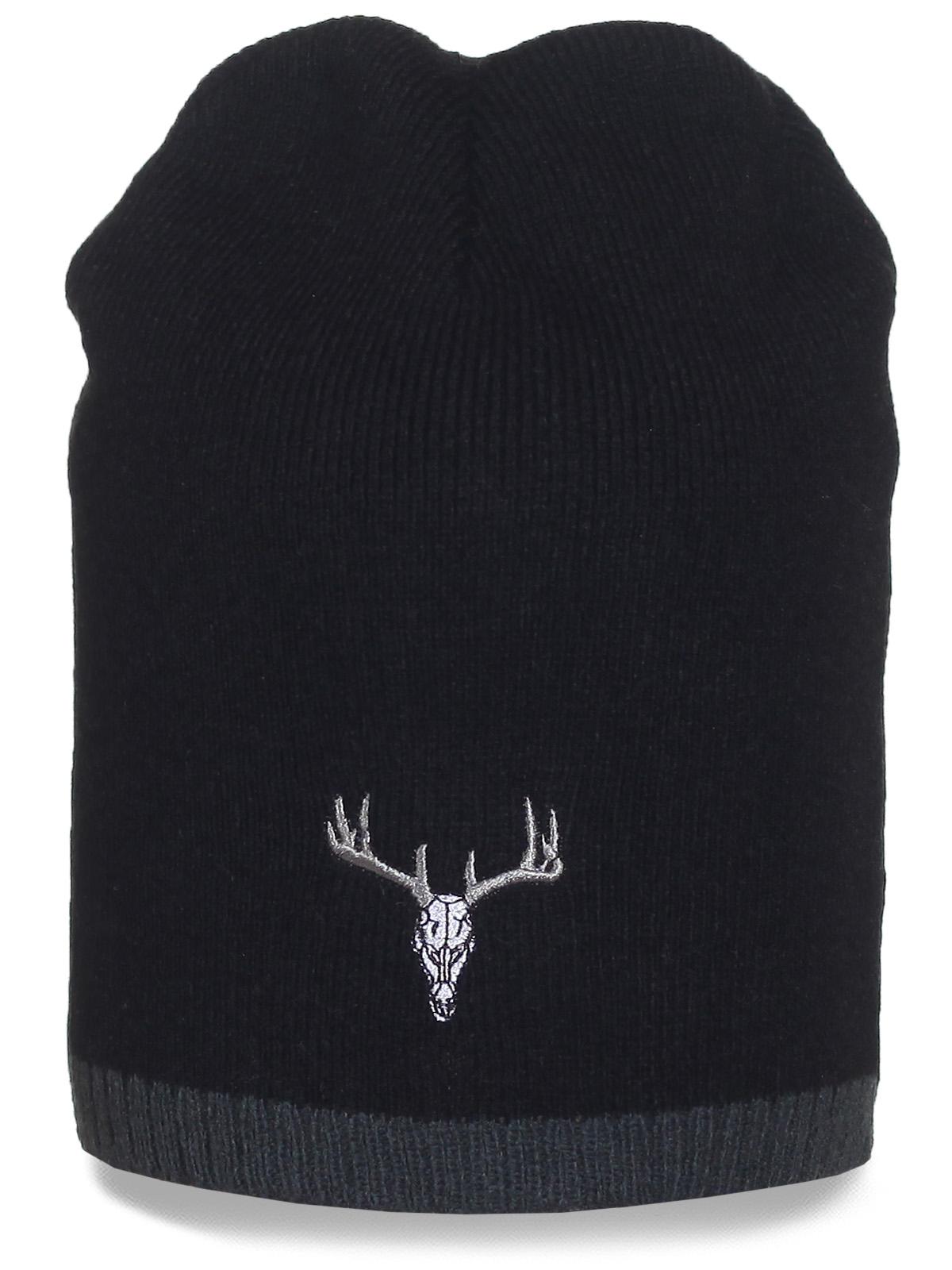 Фирменная шапка Deer-skull. Оригинальная и практичная модель