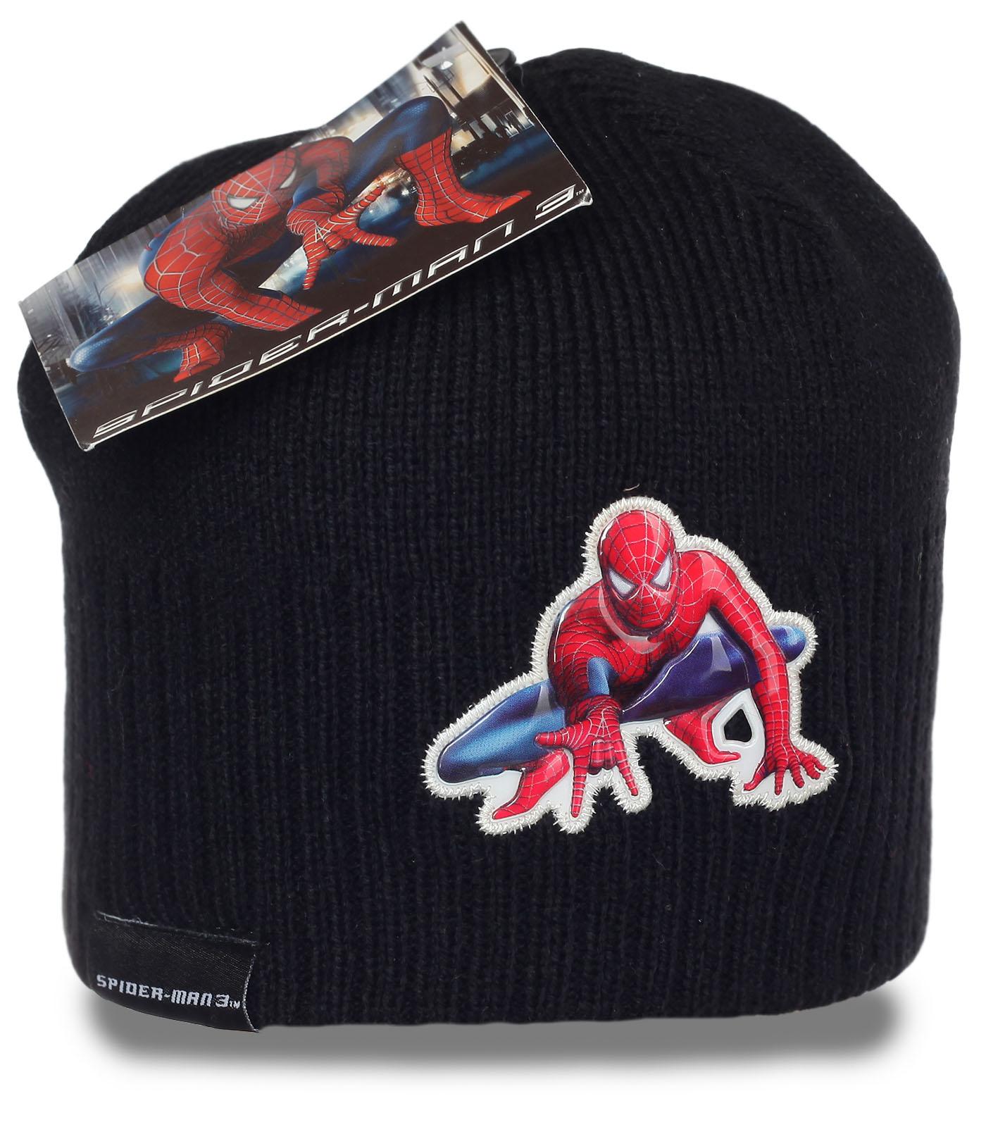 Фирменная шапка Spider-man. Стильный головной убор, в котором тепло в любую погоду