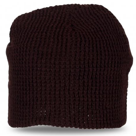Фирменная вязаная шапка