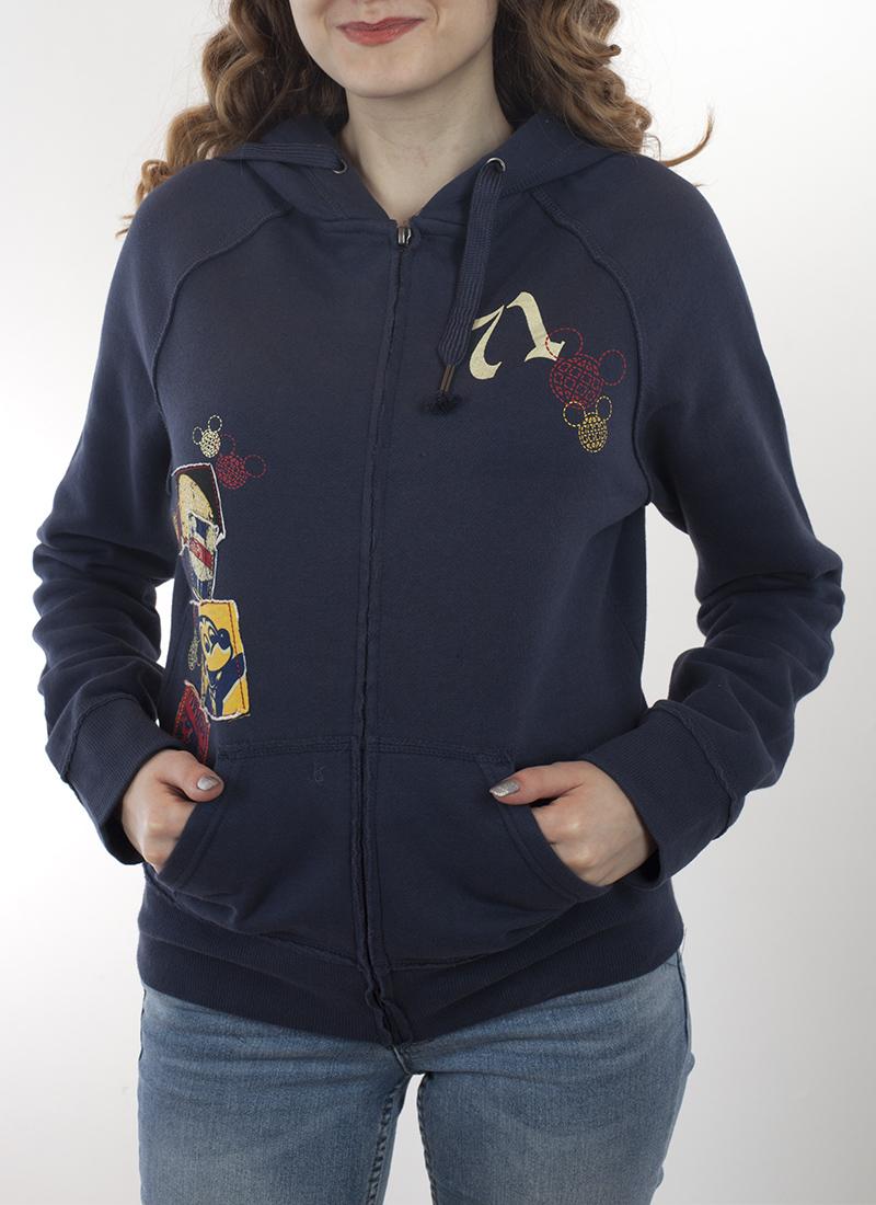 Фирменная женская кенгуру Disney Parks с принтом-аппликацией в ретро стиле. Недорогая альтернатива скучной повседневной одежде. Заказывай, не тяни!