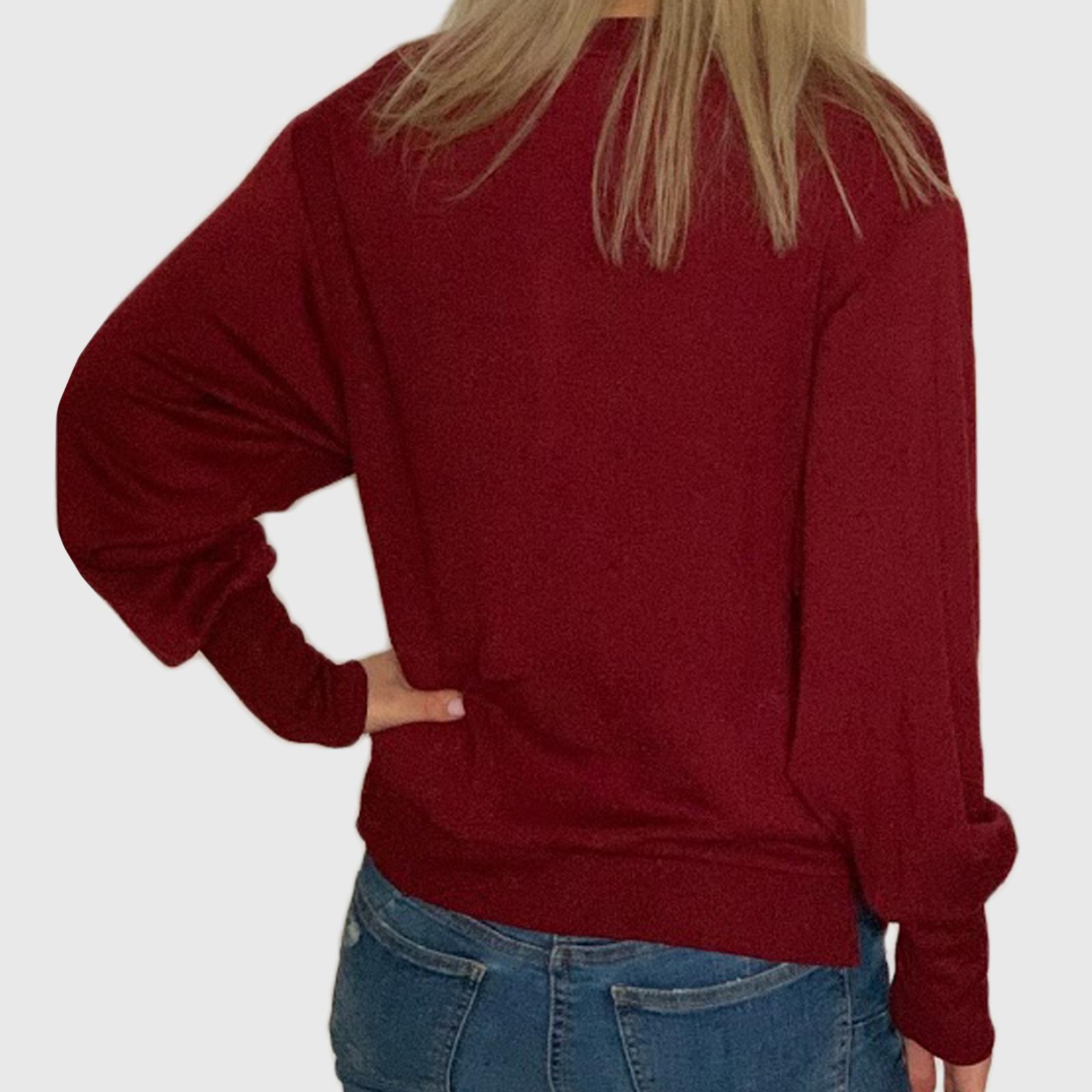 Купить модную женскую кофту бордового цвета