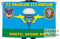 Флаг 22 ОБрСпН 173 ООСпН