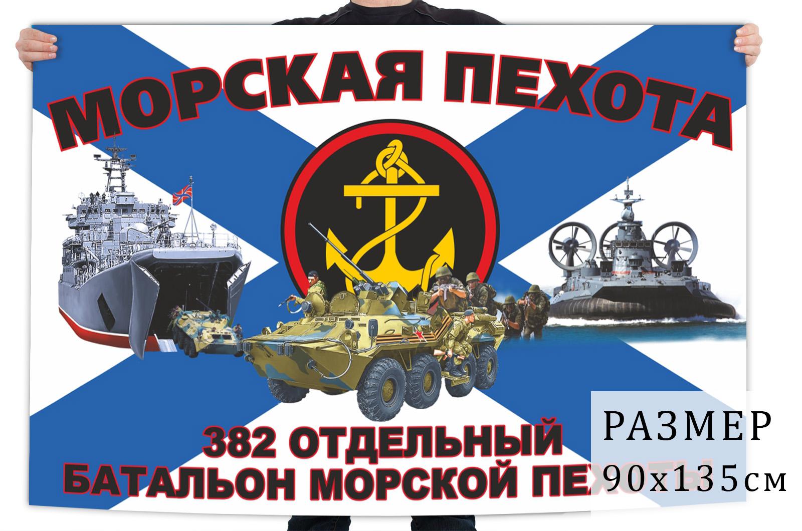 Флаг 382 отдельного батальона морпехов