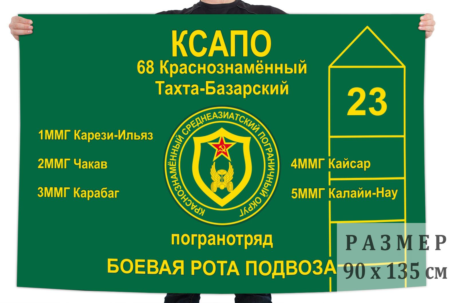 Купить в Москве флаг «68 Тахта-Базарский пограничный отряд»