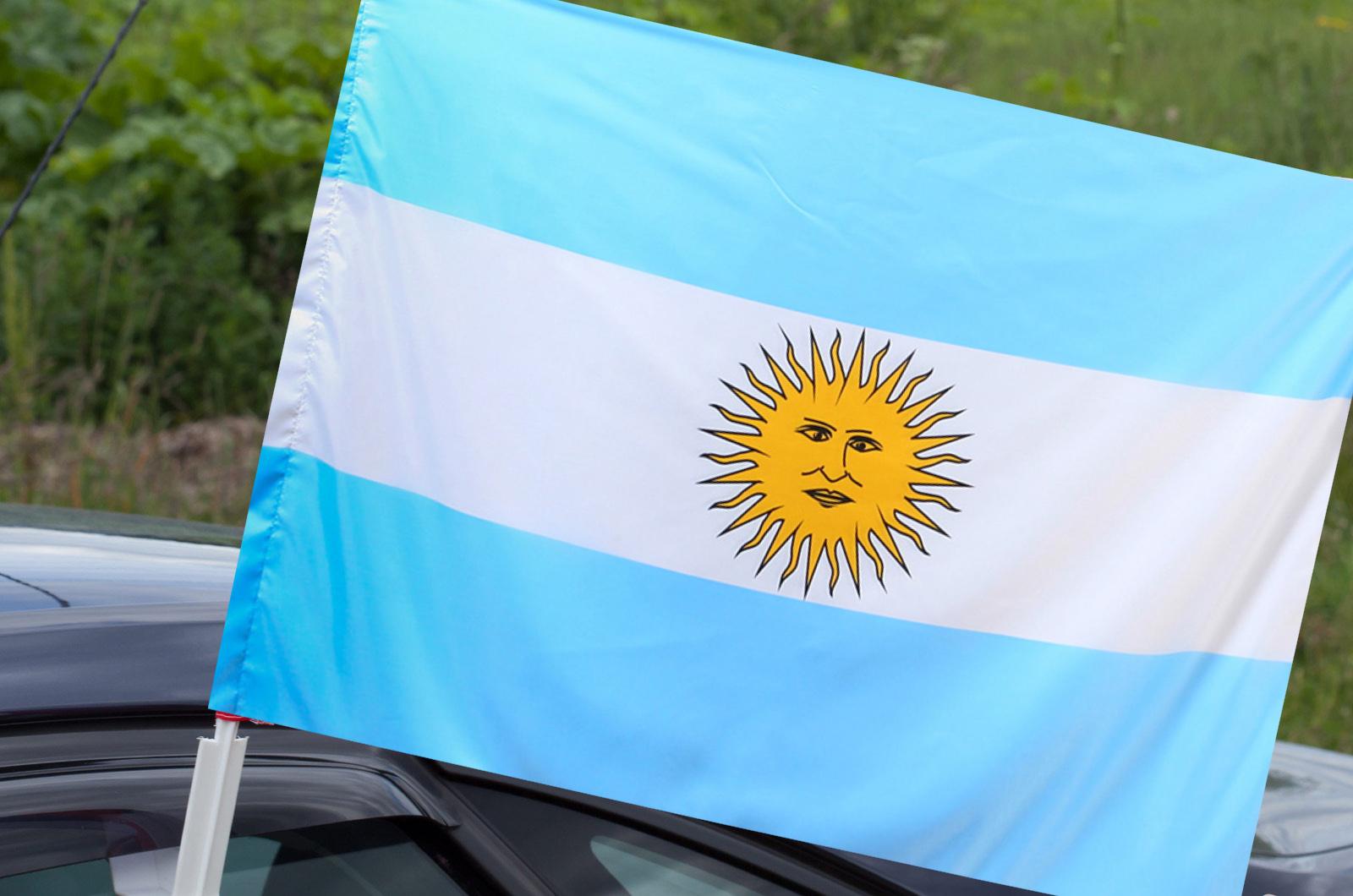 Флаг Аргентины на машину