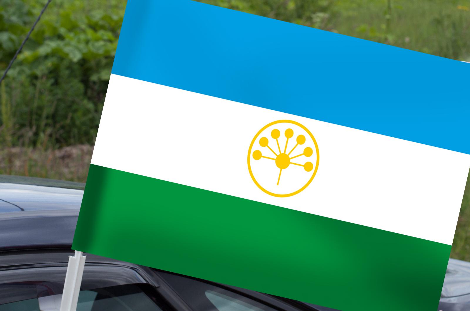 Автомобильный флаг Башкортостана