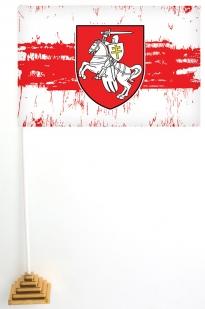 Флаг Беларуси с Погоней (стилизованный)