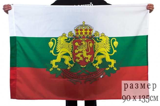 Флаг Болгарии с гербом