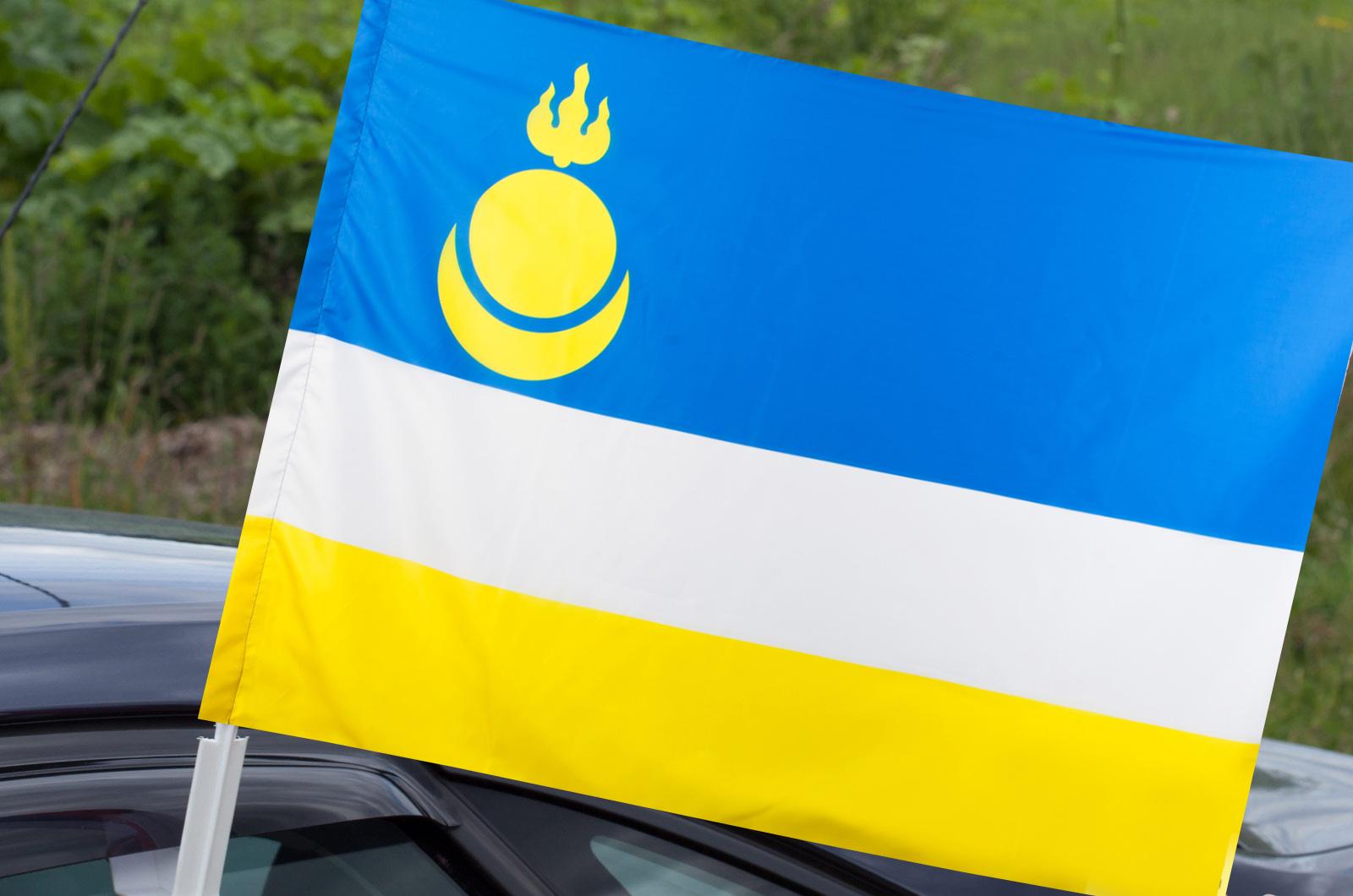 Флаг Бурятии на машину