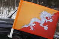 Флаг Бутана на машину