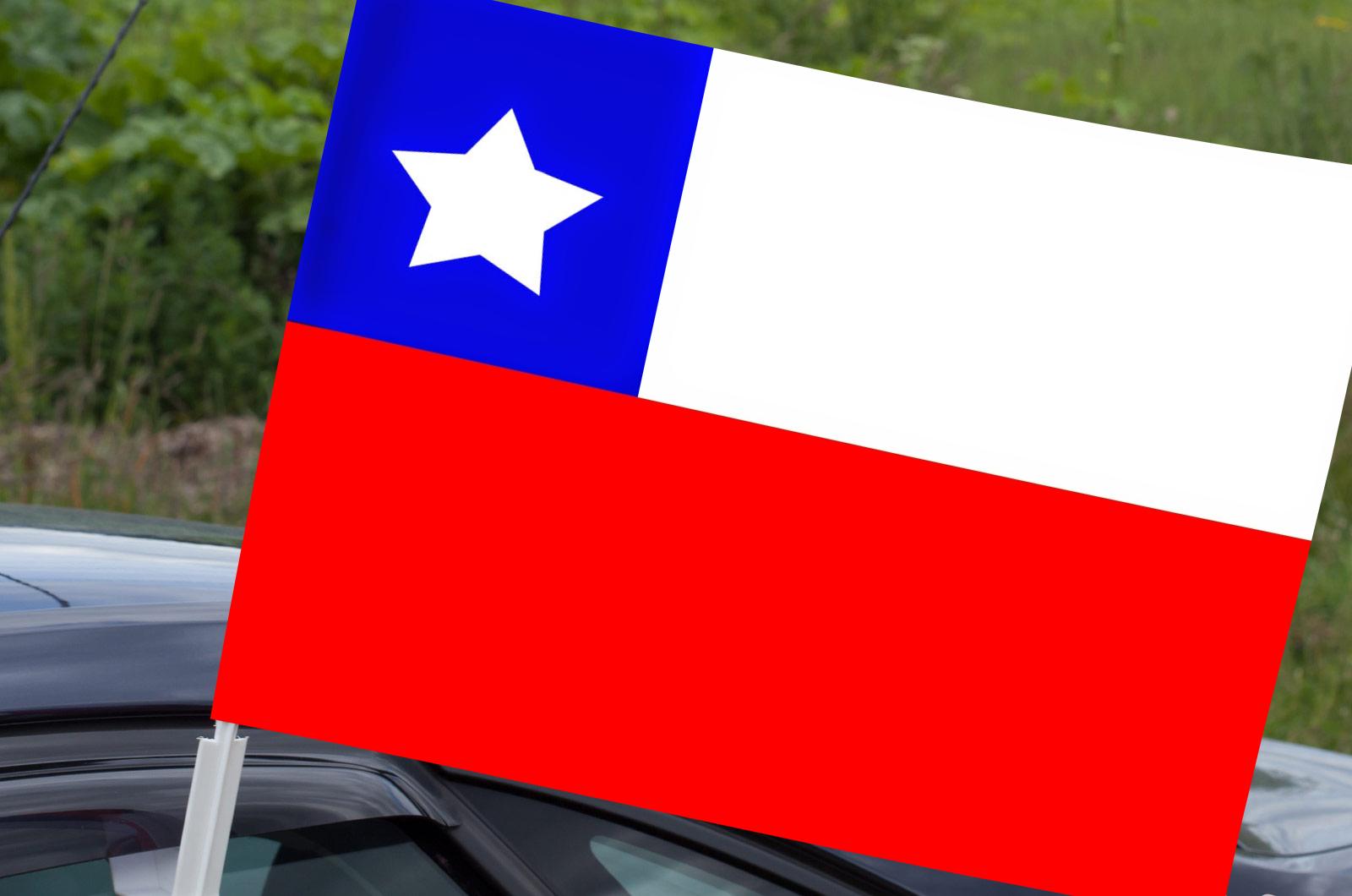 Флаг Чили на машину