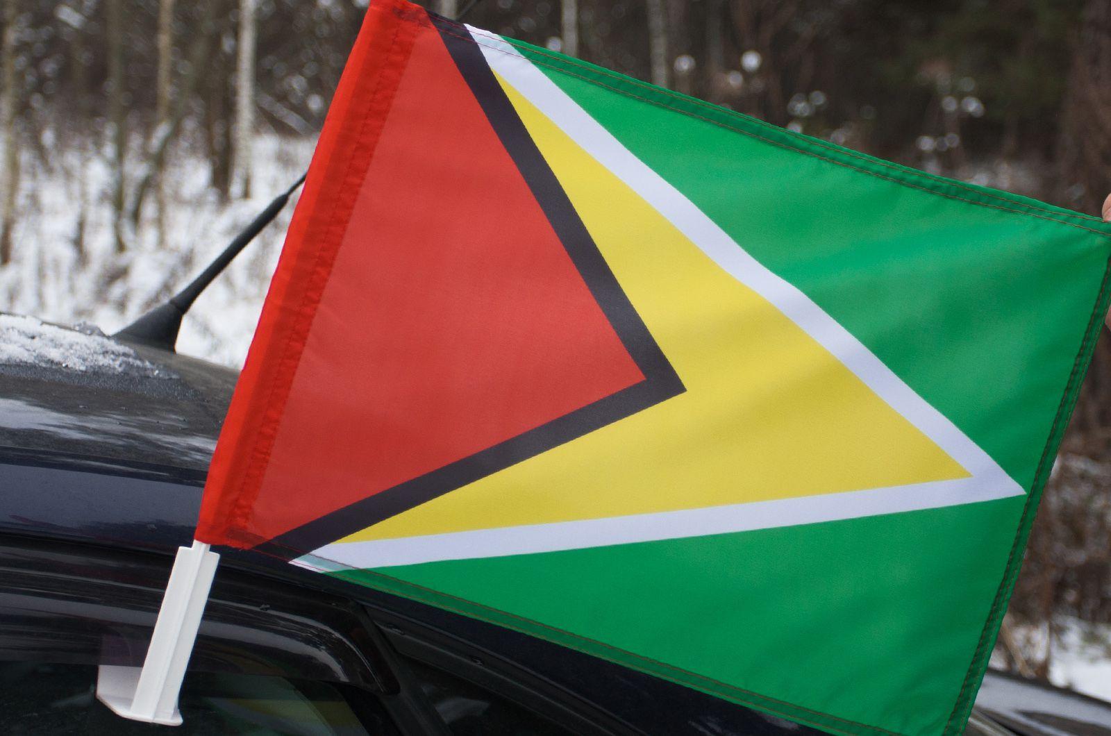Флаг Гайаны на машину