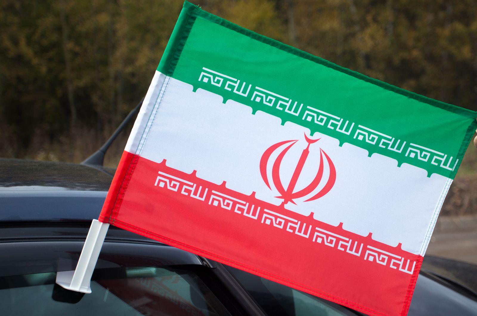 Флаг Ирана на машину