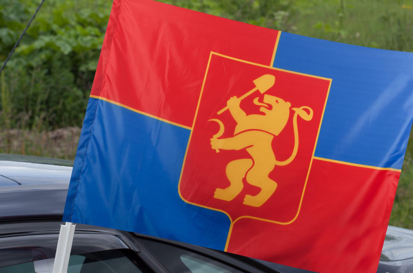 Флаг Красноярска на машину