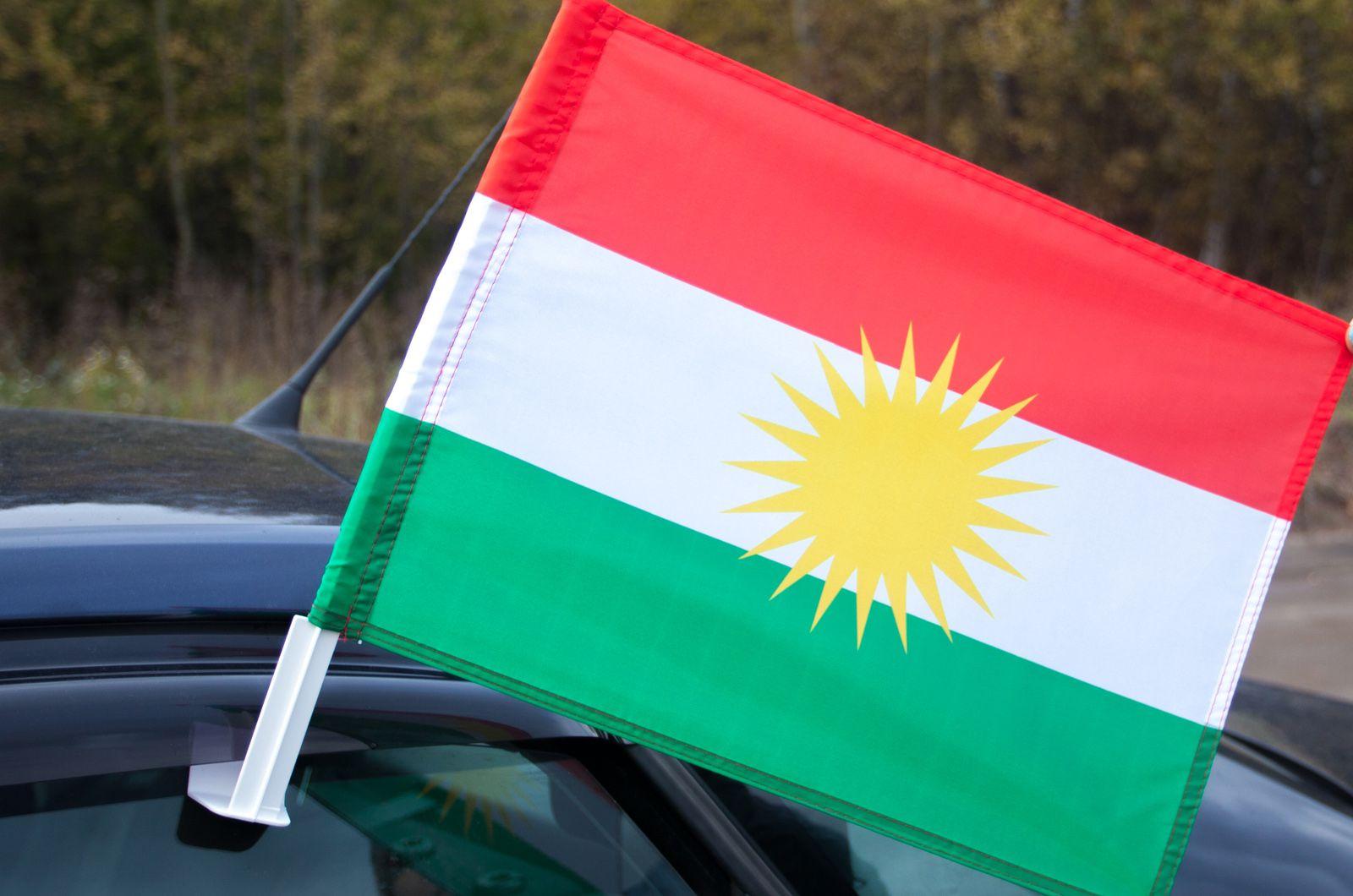 Флаг Курдистана на машину