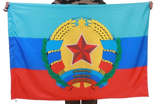 Флаг ЛНР (с гербом)