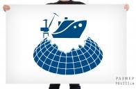 Флаг международного форума Судостроение в Арктике