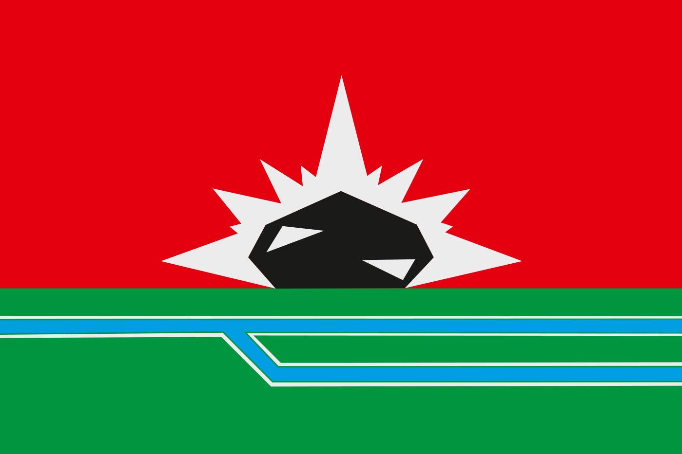 Флаг Междуреченска