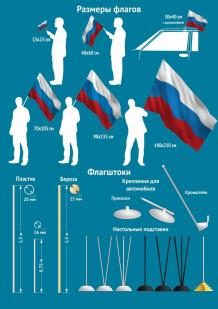 """Флаг """"Московская ДШМГ"""" - 8 размерных варианта"""