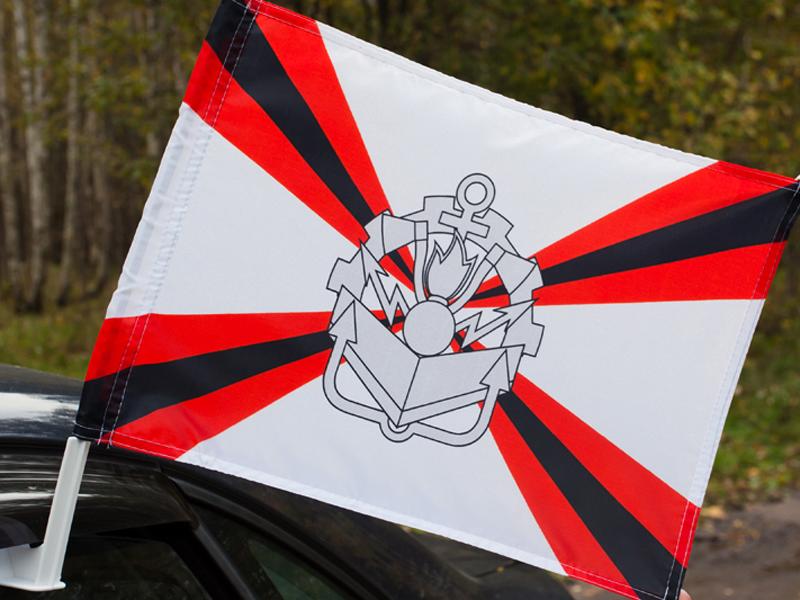 Флаг на машину с кронштейном Инженерные войска