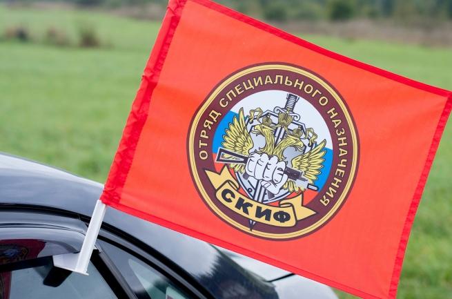 "Флаг на машину с кронштейном Спецназа ВВ ""16 ОСН Скиф"""