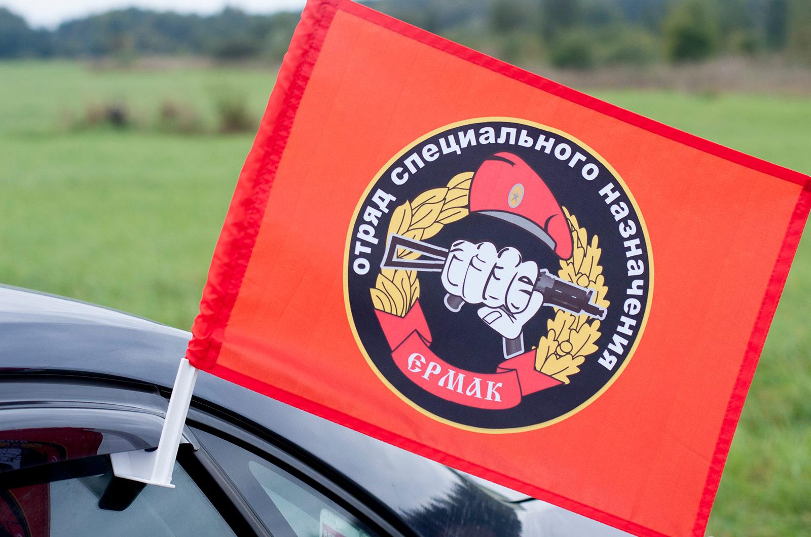 Флаг на машину с кронштейном Спецназа ВВ 19 ОСН Ермак