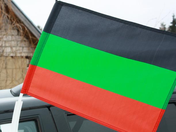 Флаг на машину с кронштейном «Терское Казачье войско»