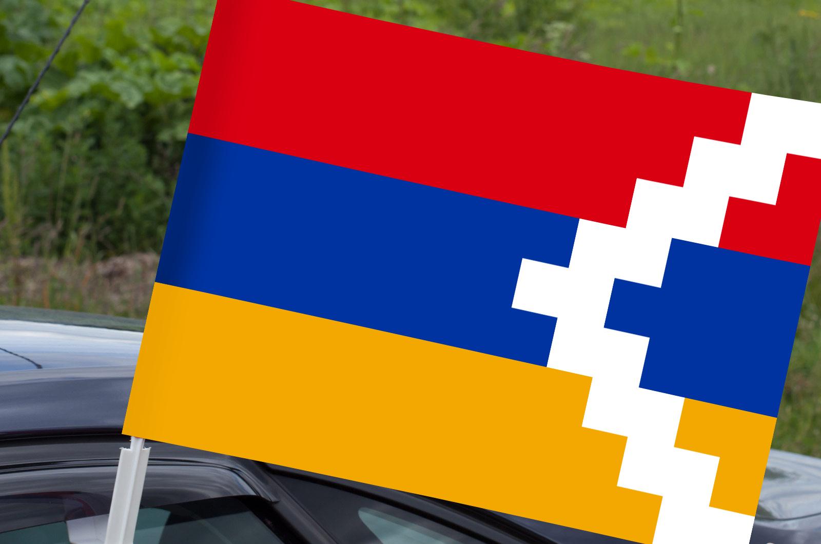 Флаг Республики Арцах на машину
