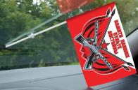 Флаг «Памяти павших будьте достойны» в машину участникам мероприятий юбилея Победы в ВОВ