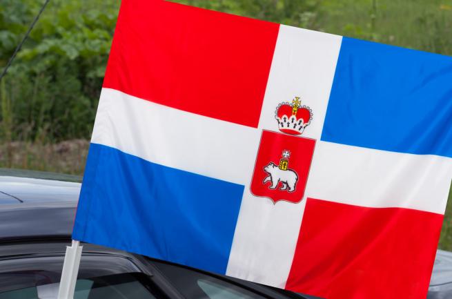 Флаг Пермского края на машину