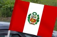Флаг Перу с кронштейном на машину