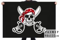 Флаг Пират в бандане с повязкой