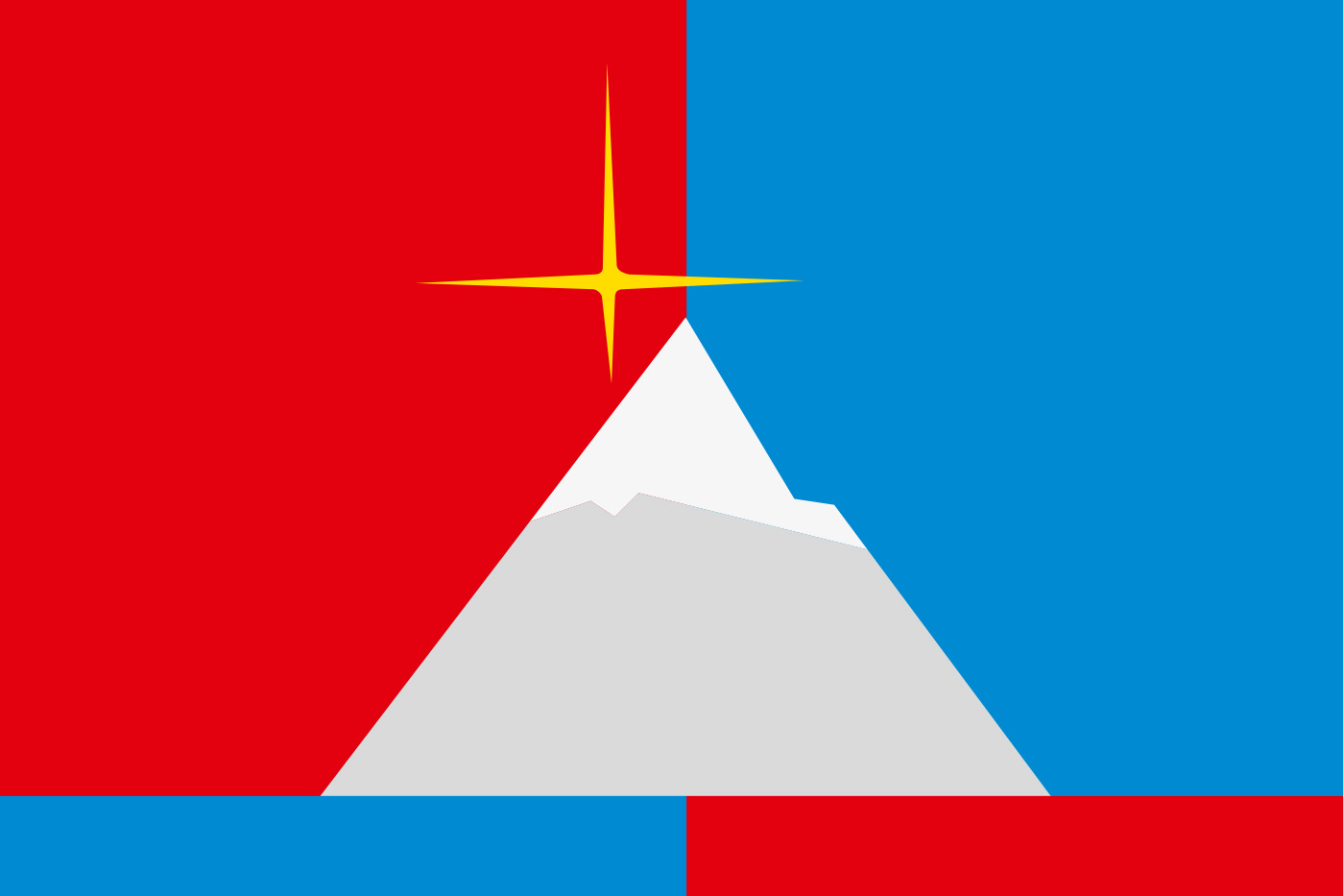 Флаг посёлка Снежногорск