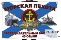 Флаг разведывательного батальона 40 отдельной бригады морской пехоты