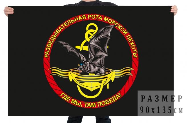 Флаг разведывательной роты Морской пехоты «Где мы, там победа!»