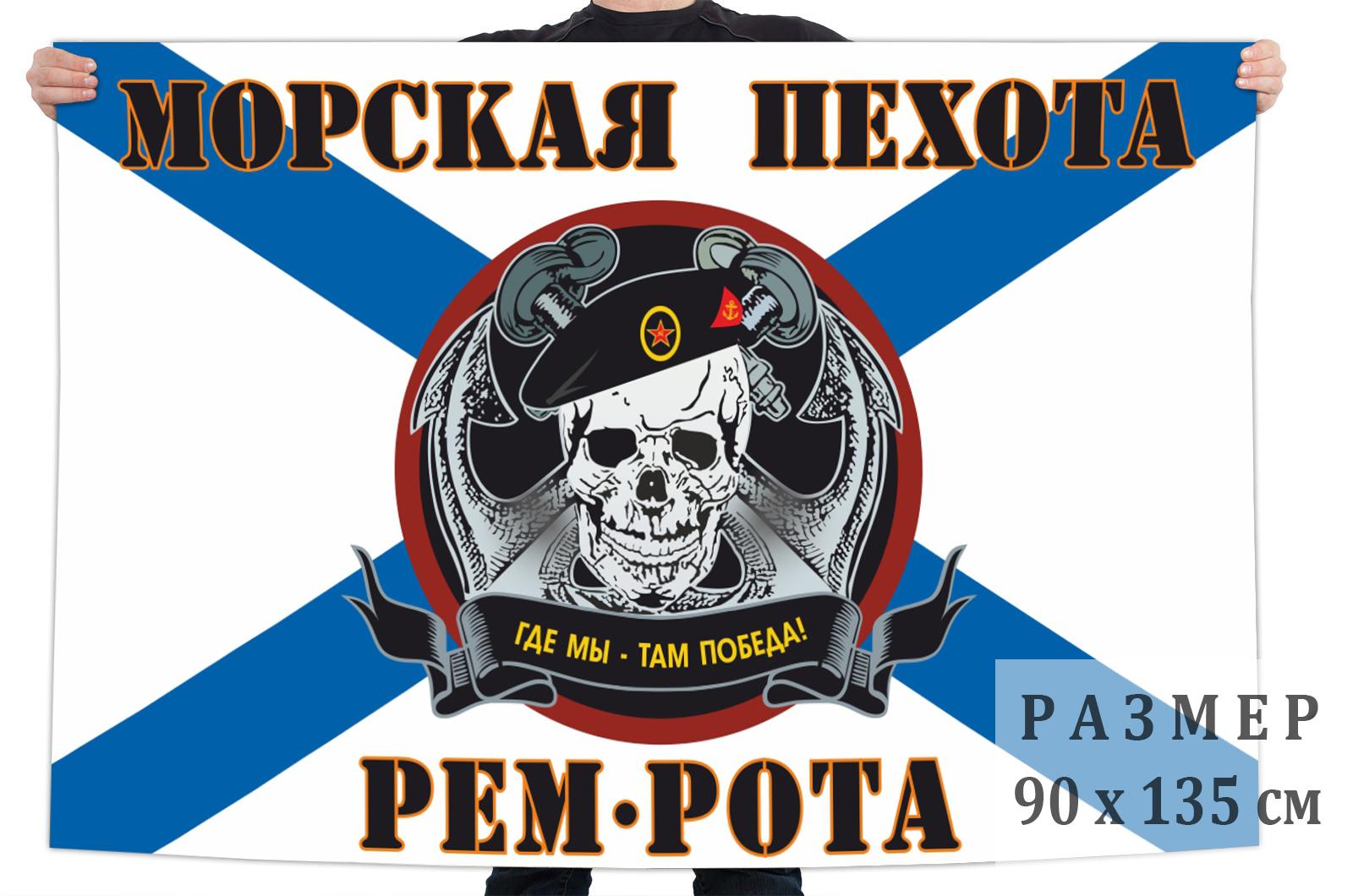 """Флаг ремонтной роты Морской пехоты """"Там где мы, там победа"""""""