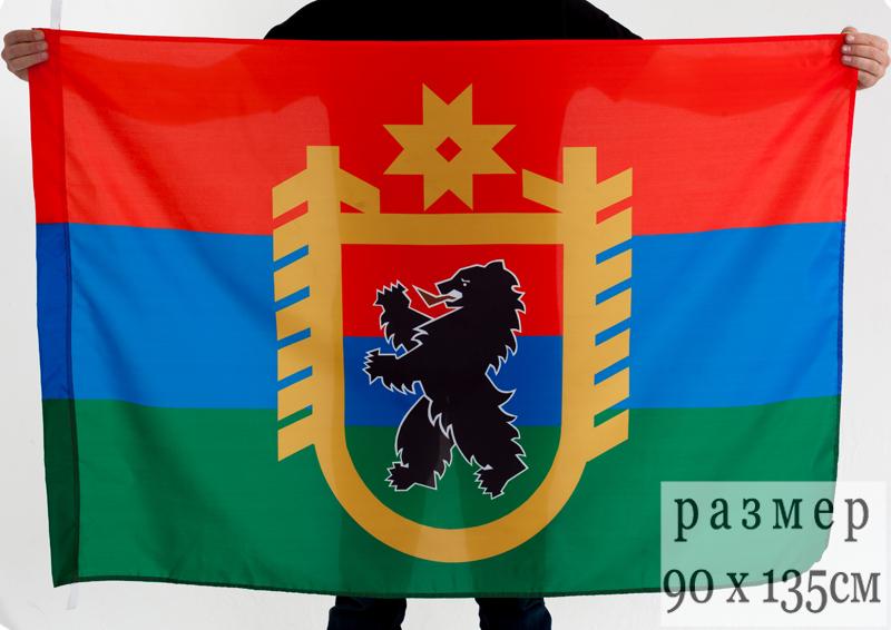 Флаг Республики Карелия с гербом