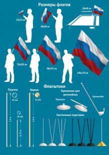 Флаг РФ с гербом